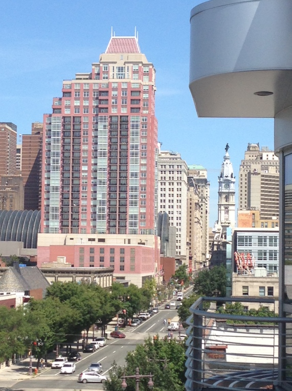 A view of the Avenue of the Arts in Philadelphia