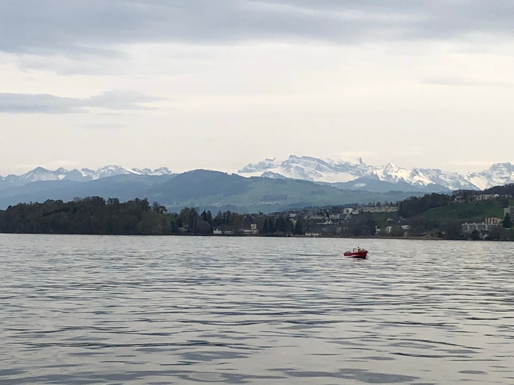 View of the Swiss mountains