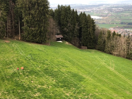 The rolling green slopes of Switzerland