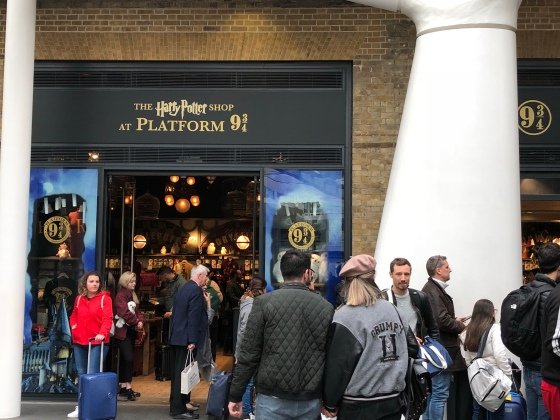 At Platform 9 3/4 at King's Cross Station!