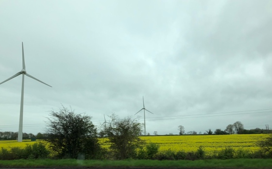 Some of the many windmills I see across the English countryside