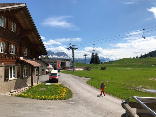 At the base of Flumserberg mountain