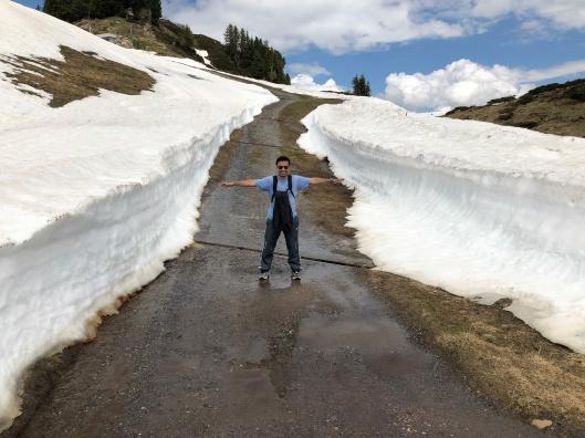 Snow still piled up
