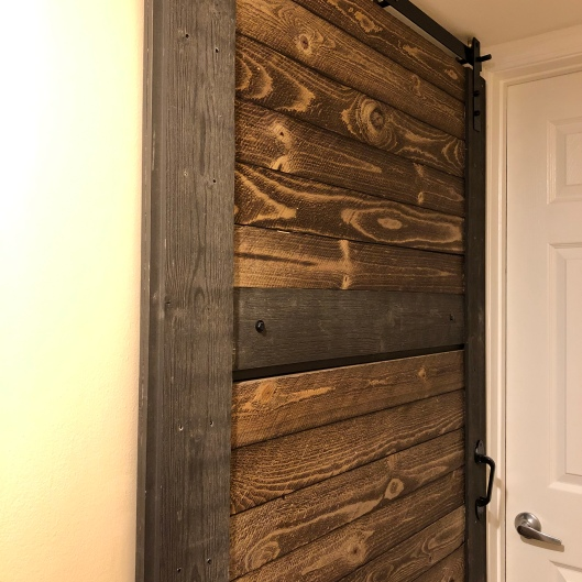 The completed and hung door